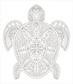 Черепаха zentangle стиль