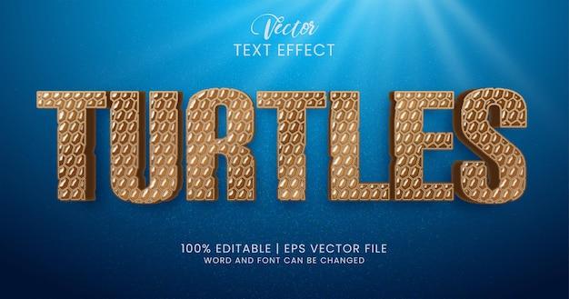 Редактируемый текстовый эффект черепахи