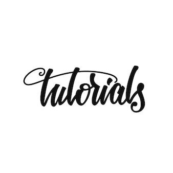 Tutorials lettering