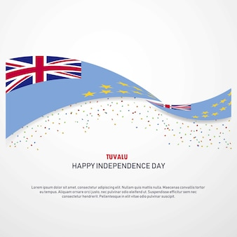 Tuvalu happy independence day background