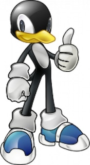 Tux the penguin in sonic style