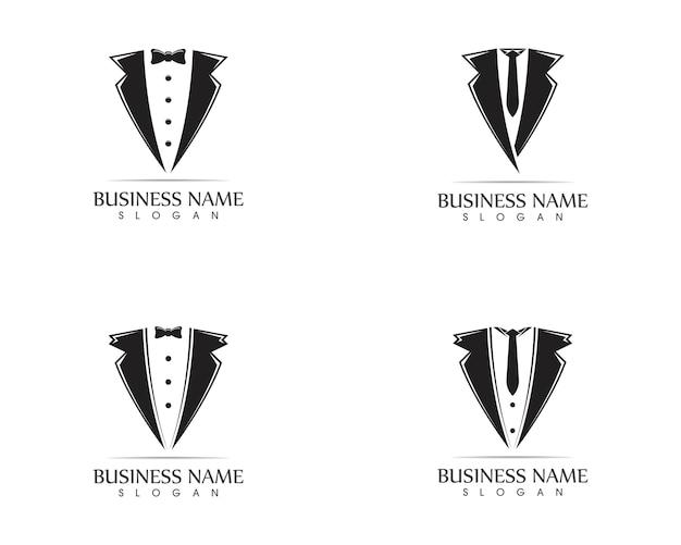 Шаблон дизайна логотипа tuxedo