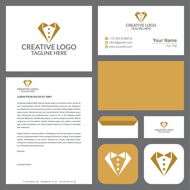 Смокинг логотип с визитной карточкой