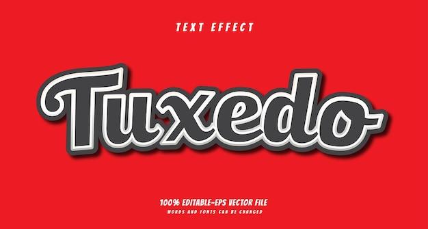 Смокинг текстовый эффект дизайн вектор