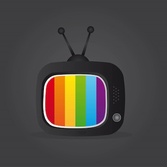 Tv icon over gray background vector illustration