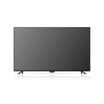 The tv is off. tv illustration isolated on white background.
