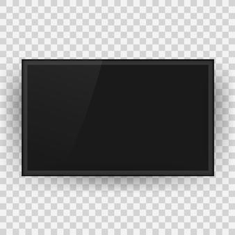 テレビ、モダンな空白の画面。液晶テレビ画面