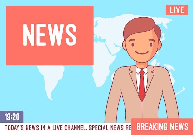 Tv news anchorman