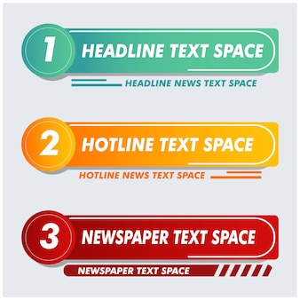 Панель новостей телевидения. барная газета. баннер заголовка средств массовой информации телевидения. векторная форма