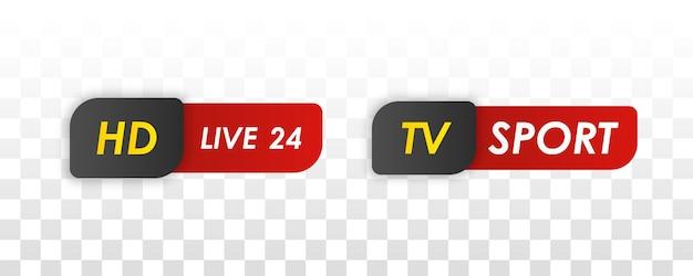 Tv 뉴스 바. 텔레비전 방송 미디어 타이틀 배너.