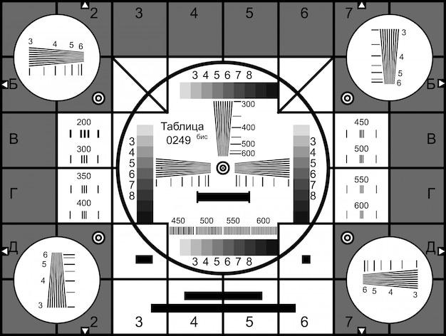 Tv resolution test charts