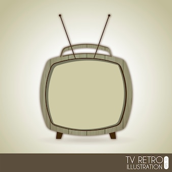 Tv retro over gray background vector illustration