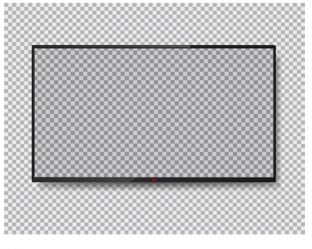 Tv screen isolated . lcd panel.