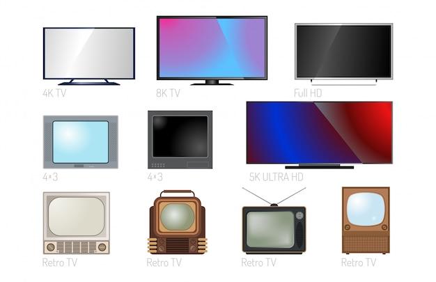 Tv 화면 lcd 모니터 전자 기기 기술 디지털 크기 대각선 디스플레이 및 비디오 현대 플라즈마 가정용 컴퓨터 세트