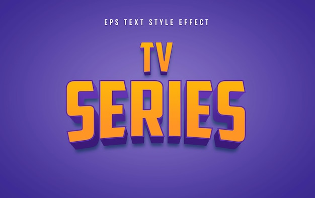 Tv series yellow 3d editable text style effect