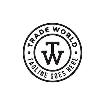 Логотип tw initial stamp