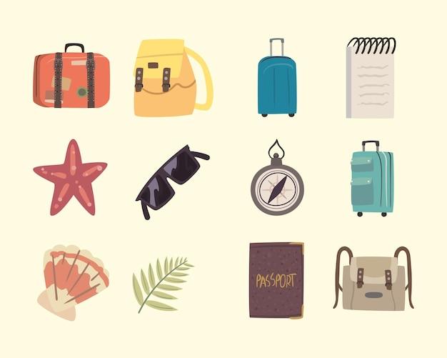 Двенадцать бон вояж набор иконок