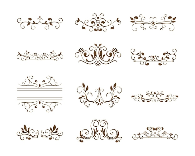 Twelve dividers victorians