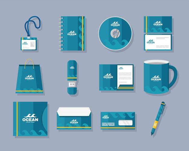 Twelve identity brand icons