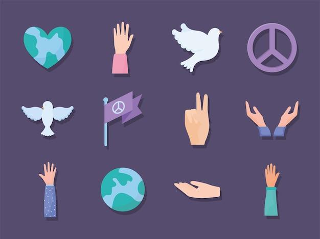 Twelve pacifism items
