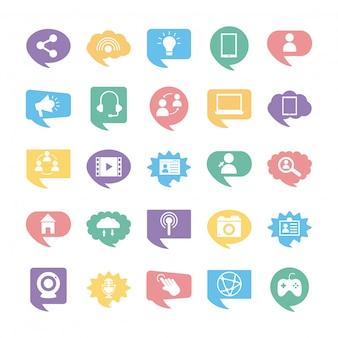 25 소셜 미디어 마케팅 설정 아이콘