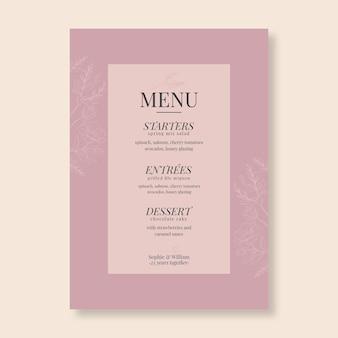 Twenty five years anniversary menu