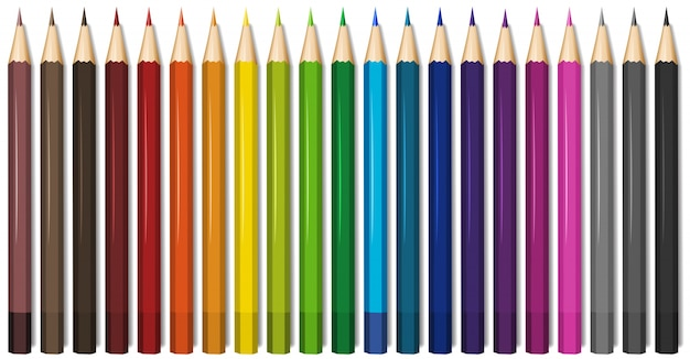 Venti una tonalità di matite colorate