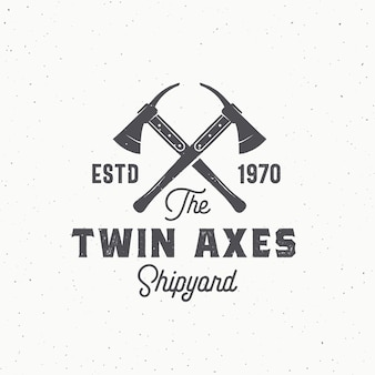 Twin axes abstract sign, symbol or logo