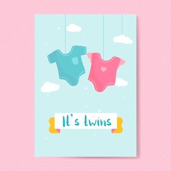 双子の赤ちゃんがカードを明らかにする