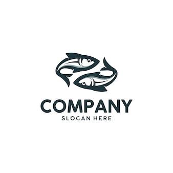 쌍둥이 물고기 로고 디자인 영감