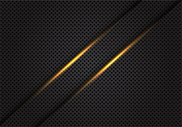 Twin gold light line on dark grey circle mesh background.