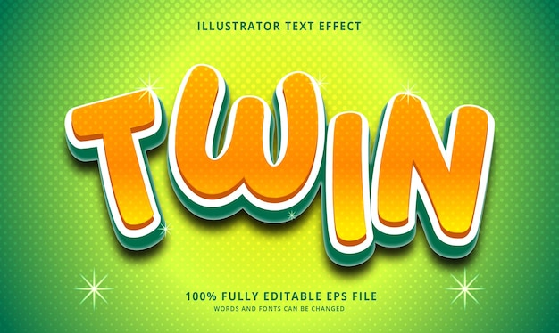 트윈 텍스트 효과 편집 가능한 eps 파일