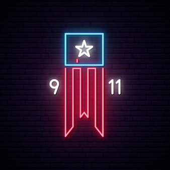 Twin towers on american flag