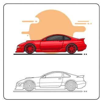 Автомобиль twin turbo легко редактируемый