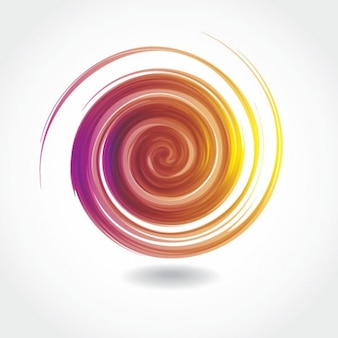 Twirled abstract vector graphic
