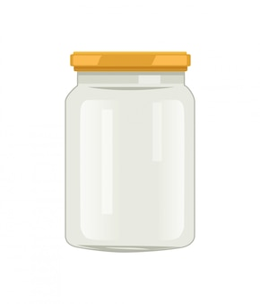 Twist cap glass jar for veggie and fruit conserve