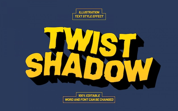 Twist shadow text style effect
