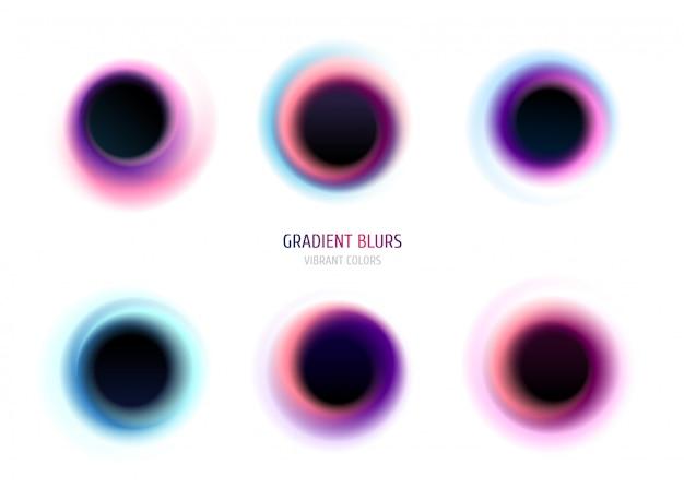 Twisted gradient blurs. liquid gradient shapes