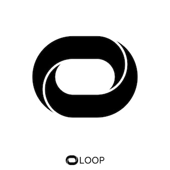 Twisted loop oval letter o logo concept