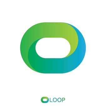 Twisted loop oval letter o logo. nature logo concept