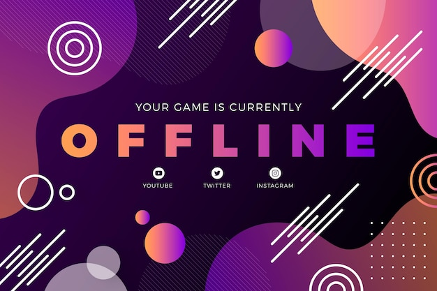Twitch abstract offline banner