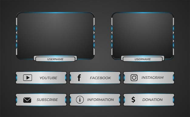 Twitch game overlay with a modern style