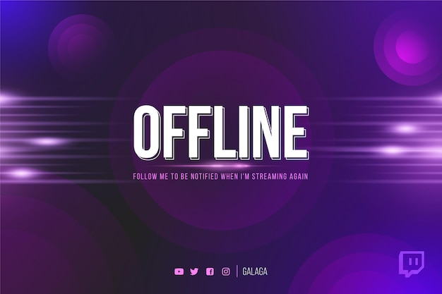 Twitch offline abstract banner