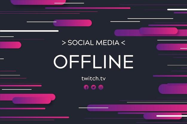 Banner astratto offline twitch