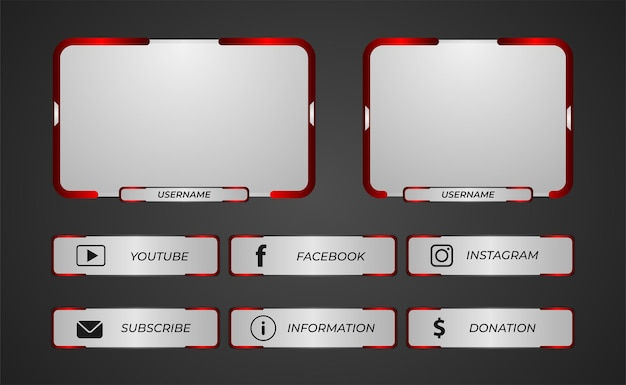 Twitch panels overlay for game streaming