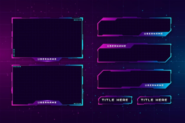 Twitch stream panels collection