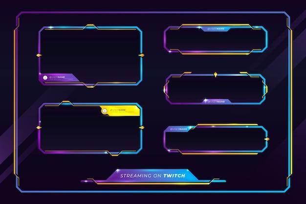Concetto di pannelli di flusso twitch