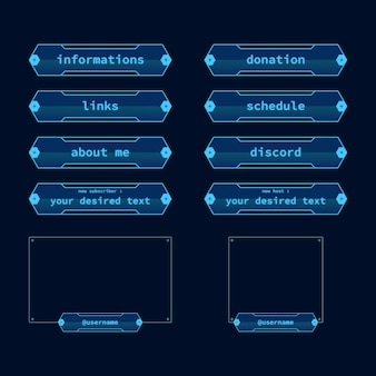 Twitch stream panels pack