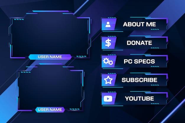 Пакет панелей twitch stream