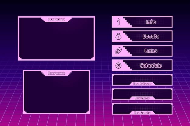 Концепция панелей twitch stream